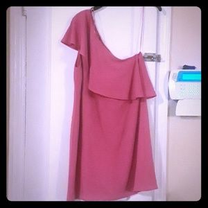 Fuschia one shoulder dress perfect for night out